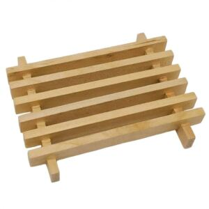 Slatted Rstic Easy Clean Wood Soap Tray